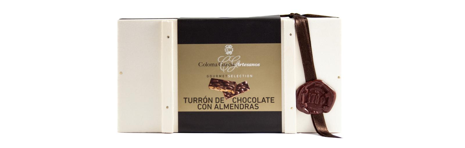 BAUL TURRÓN DE CHOCOLATE CON ALMENDRAS