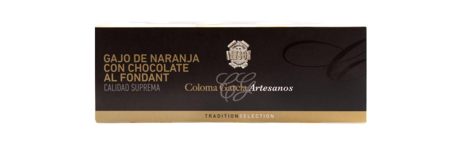 GAJO DE NARANJA CON CHOCOLATE AL FONDANT