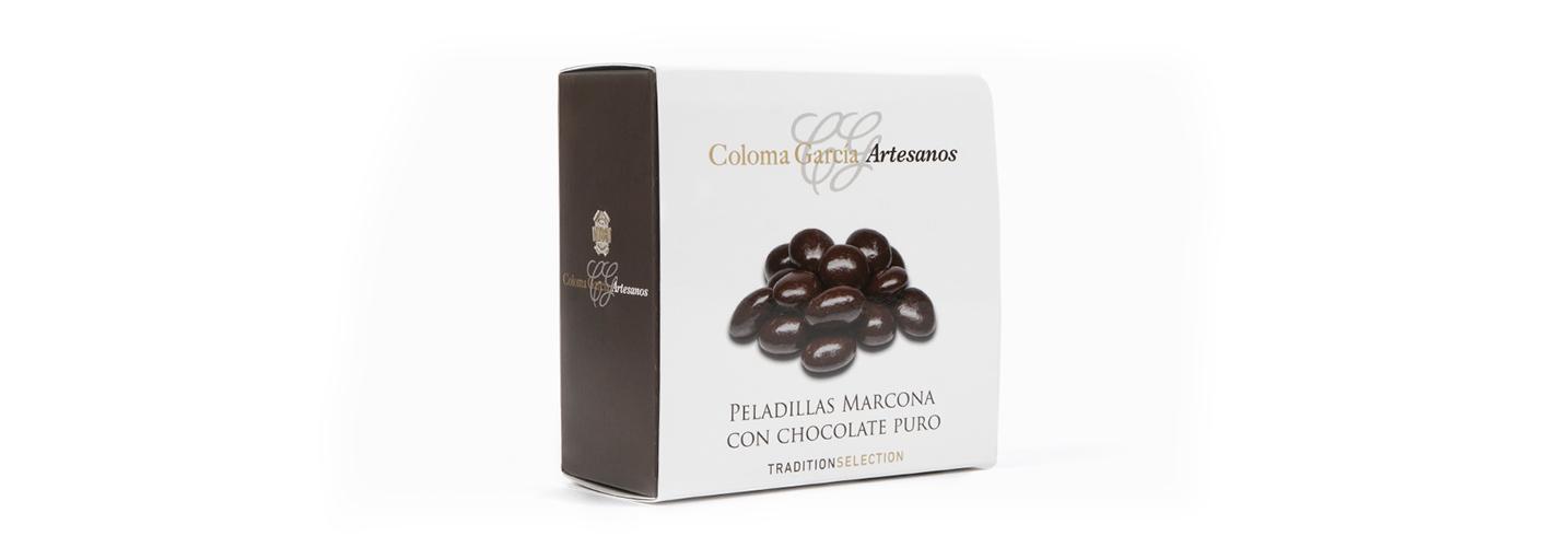 peladillas almentra marcona con chocolate