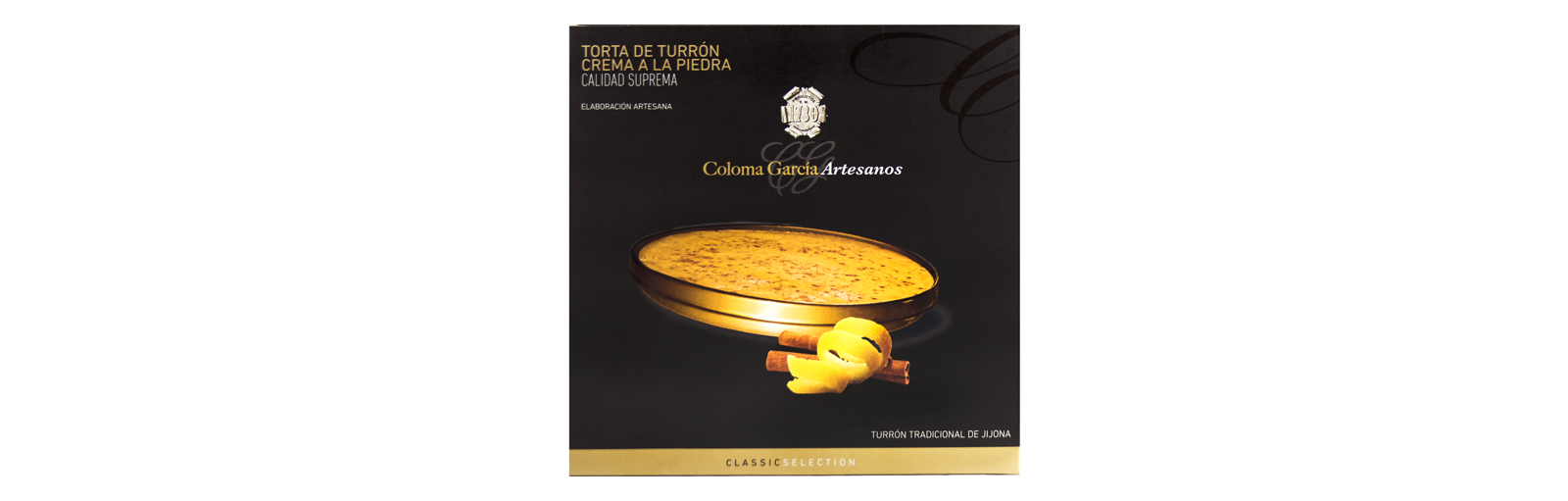 TORTA DE TURRON CREMA A LA PIEDRA