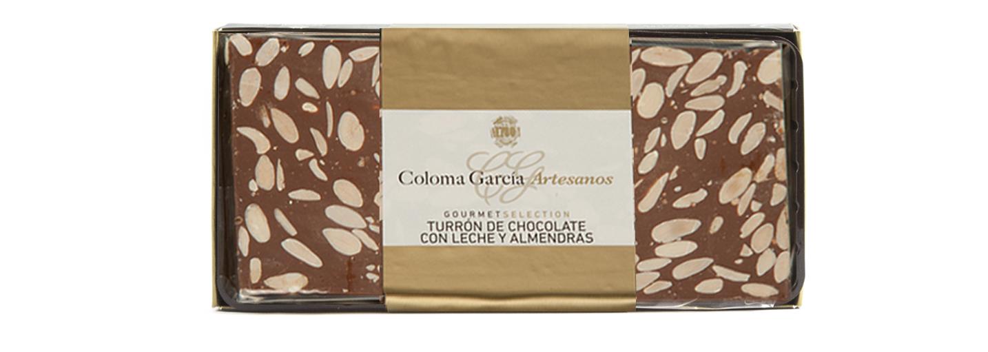 TURRÓN DE CHOCOLATE AL FONDANT CON ALMENDRAS RILSAN GOURMET